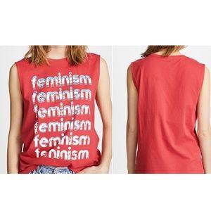 NWT REBECCA MINKOFF Feminism Graphic Muscle Tee